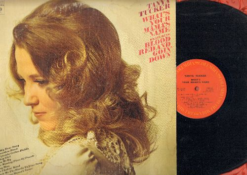 Tucker, Tanya - What's Your Mama's Name: Blood Red And Goin' Down, Teddy Bear Song, Pass Me By, California Cotton Fields (vinyl STEREO LP record) - NM9/VH7 - LP Records