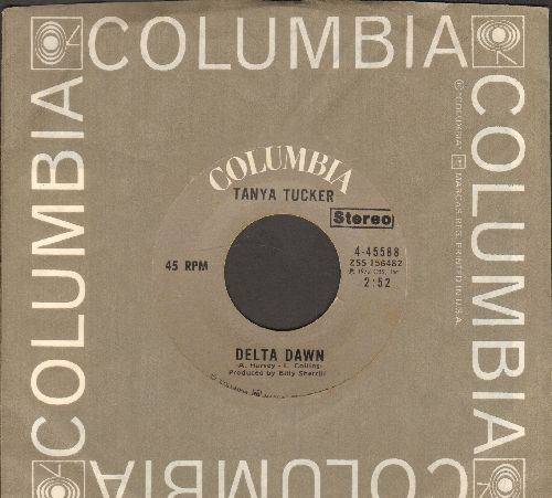 Tucker, Tanya - Delta Dawn/I Love The Way He Loves Me (with Columbia company sleeve) - EX8/ - 45 rpm Records