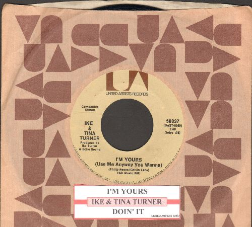 Turner, Ike & Tina - I'm Yours/Doin' It (with juke box label and United Artists company sleeve) - NM9/ - 45 rpm Records
