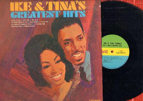 Turner, Ike & Tina - Ike & Tina's Greatest Hits: A Fool In Live, Tra La La, Mojo Queen, You Should've Treated Me Right (vinyl MONO LP record,b 1967 first pressing) - NM9/EX8 - LP Records
