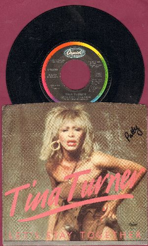 Turner, Tina - Let's Stay Together/I Wrote A Letter (with picture sleeve) - NM9/EX8 - 45 rpm Records