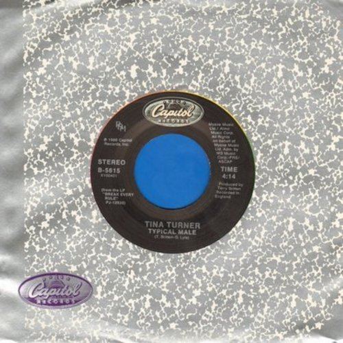 Turner, Tina - Typical Male/Don't Turn Around  - EX8/ - 45 rpm Records