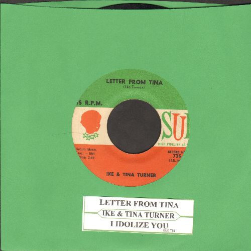 Turner, Ike & Tina - I Idolize You/Letter From Tina (with juke box label) - VG7/ - 45 rpm Records