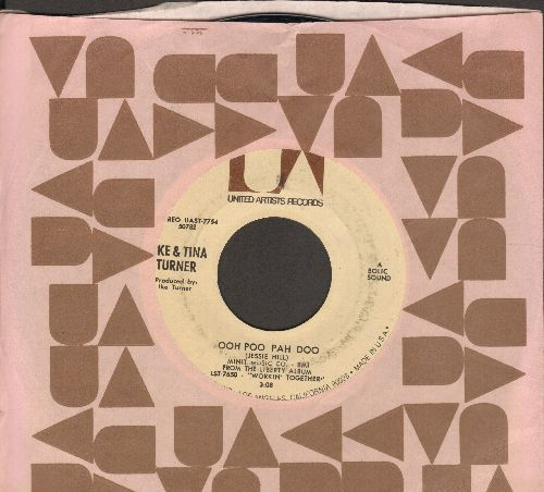 Turner, Ike & Tina - Ooh Poo Pah Doo/I Wanna Jump (with United Artists company sleeve) - EX8/ - 45 rpm Records