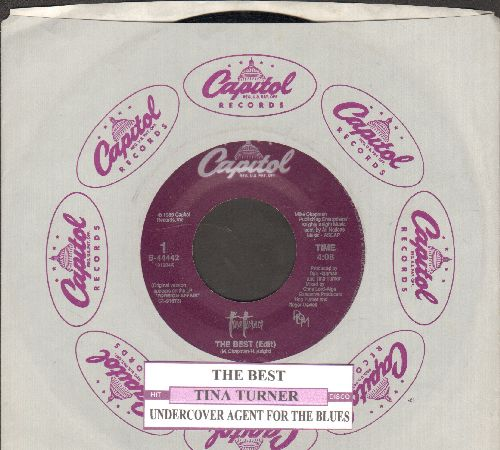 Turner, Tina - The Best/Undercover Agent (with juke box label and Capitol company sleeve) - NM9/ - 45 rpm Records