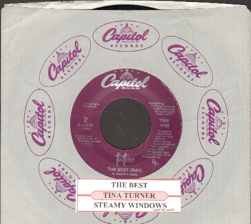 Turner, Tina - The Best/Steamy Windows (with juke box label and Capitol company sleeve) - NM9/ - 45 rpm Records