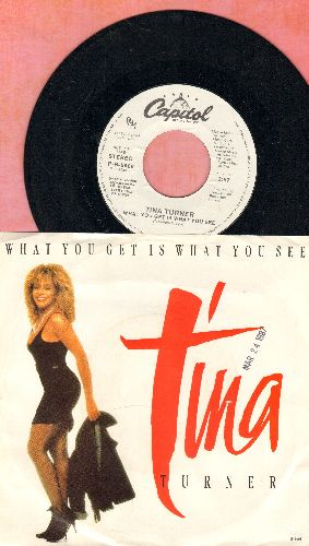 Turner, Tina - What You Get Is What You See (double-A-sided DJ advance pressing with picture sleeve) - NM9/EX8 - 45 rpm Records