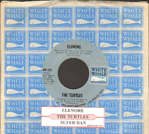 Turtles - Elenore (Gee, I Think You're Swell)/Surfer Dan (with juke box label and White Whale company sleeve)) - NM9/ - 45 rpm Records