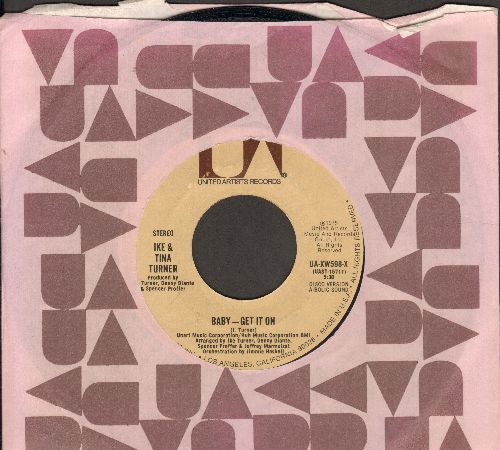 Turner, Ike & Tina - Baby - Get It On (5:30 Disco Version)/Baby - Get It On (3:10 Radio Version) (with United Artists company sleeve) - NM9/ - 45 rpm Records