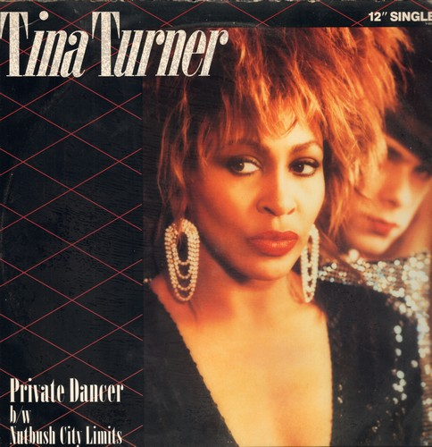 Turner, Tina - Private Dancer (7:16 minutes Extended Dance Club Mix)/Nutbush City Limits (2:56 minutes) (12 inch vinyl Maxi Single with picture cover) - NM9/EX8 - 45 rpm Records
