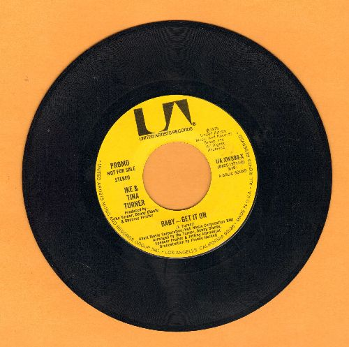 Turner, Ike & Tina - Baby - Get It On (DJ advance pressing with MONO and STEREO version) - NM9/ - 45 rpm Records
