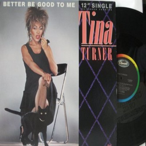 Turner, Tina - Better Be Good To Me (7:40 minutes Extended Version)/When I Was Young (12 inch 33rpm Maxi Single with picture cover) - EX8/EX8 - LP Records