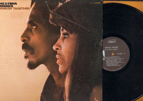 Turner, Ike & Tina - Workin' Together: Proud Mary, Let It Be, Ooh Poo Pah Doo, Get Back, Game Of Love (Vinyl STEREO LP record) - EX8/VG7 - LP Records