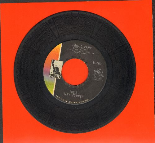 Turner, Ike & Tina - Proud Mary/Funkier Than A Mosquita's Tweeter  - VG7/ - 45 rpm Records