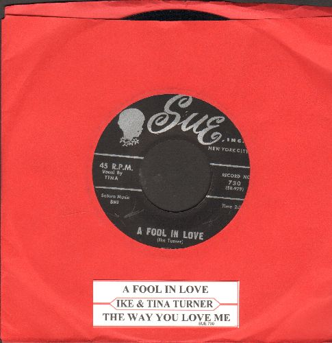 Turner, Ike & Tina - A Fool In Love/The Way You Love Me (with juke box label) - VG7/ - 45 rpm Records
