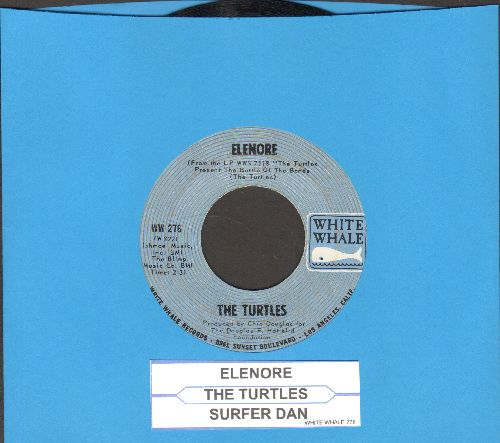 Turtles - Elenore (Gee, I Think You're Swell)/Surfer Dan (with juke box label) - EX8/ - 45 rpm Records