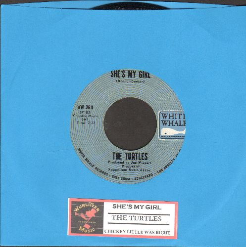 Turtles - She's My Girl/Chicken Little Was Right (with juke box label) - NM9/ - 45 rpm Records