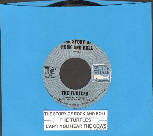 Turtles - The Story Of Rock And Roll/Can't You Hear The Cows (with juke box label) - NM9/ - 45 rpm Records