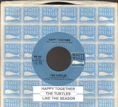 Turtles - Happy Together/Like The Seasons (with juke box label and White Whale company sleeve) - EX8/ - 45 rpm Records