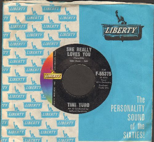 Yuro, Timi - She Really Loves You/Smile (NICE condition with vintage Liberty company sleeve) - NM9/ - 45 rpm Records