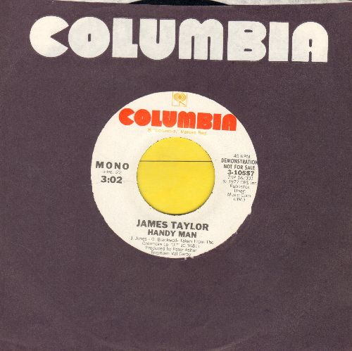 Taylor, James - Handy Man (double-A-sided DJ advance pressing with Columbia company sleeve) - NM9/ - 45 rpm Records
