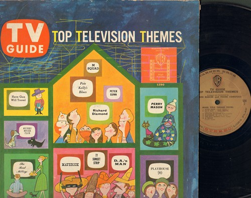 Barker, Warren & Frank Comstock - TV Guide Top Television Themes: Maverick, 77 Sunset Strip, Perry Mason, Peter Gunn, Mickey Mouse Club (Vinyl STEREO LP record) - NM9/VG7 - LP Records