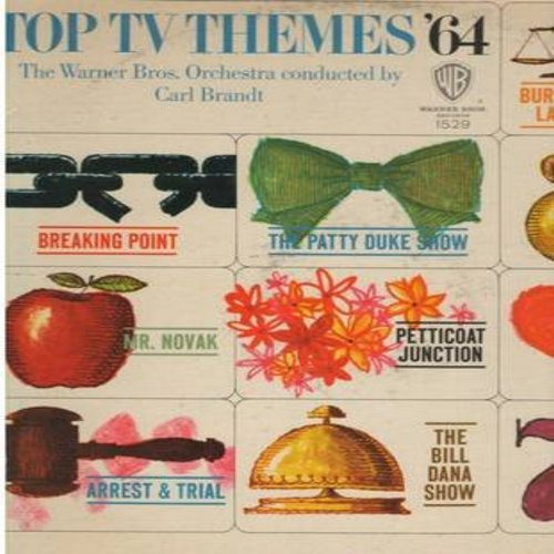 Warner Brothers Orchestra conducted by Carl Brandt - Top TV Themes '64: Petticoat Junction, Burke's Law, The Patty Duke Show, My Favorite Martian, 77 Sunset Strip, Arrest And Trail (Vinyl MONO LP record) - NM9/VG7 - LP Records