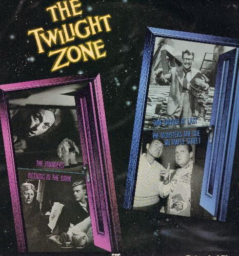 Twilight Zone - The Twilight Zone 4 Epsidoe LASERDISC With The Invaders, Nothing In The Dark, The Enough At Last, The Monsters Are Due On Maple Street - NM9/EX8 - LaserDiscs