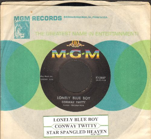 Twitty, Conway - Lonely Blue Boy/Star Spangeled Heaven (with MGM company sleeve with juke box label) - NM9/ - 45 rpm Records
