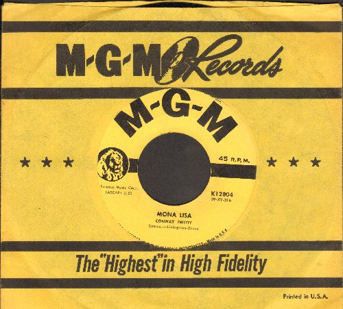 Twitty, Conway - Mona Lisa/Heavenly (with vintage MGM company sleeve) - EX8/ - 45 rpm Records