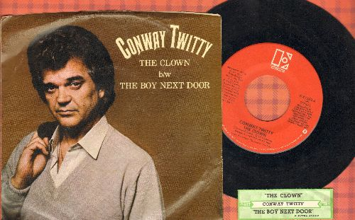 Twitty, Conway - The Clown/The Boy Next Door (with picture sleeve and juke box label) - EX8/EX8 - 45 rpm Records