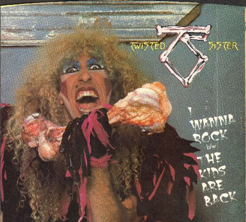 Twisted Sister - I Wanna Rock/Leader Of The Pack (with picture sleeve) - VG7/NM9 - 45 rpm Records