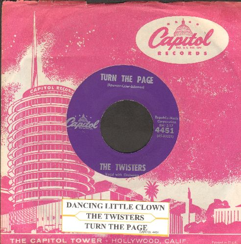 Twisters - Dancing Little Clown/Turn The Page (with vintage Capitol company sleeve and juke box label) - EX8/ - 45 rpm Records