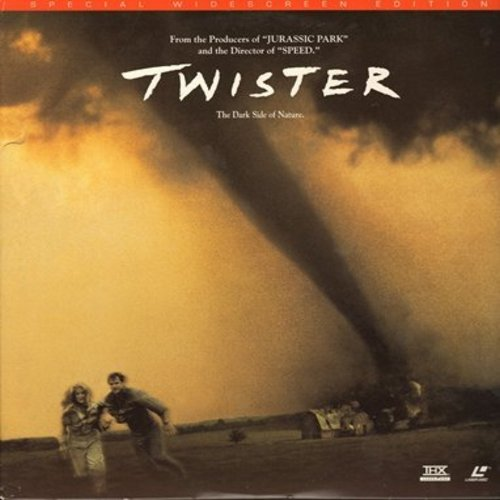 Twister - Twister - Laser Disc version of the 1996 Hollywood Blockbuster starring Helen Hunt and Bill Paxton (this is a LASER DISC, not any other kind of media!) - M10/EX8 - Laser Discs