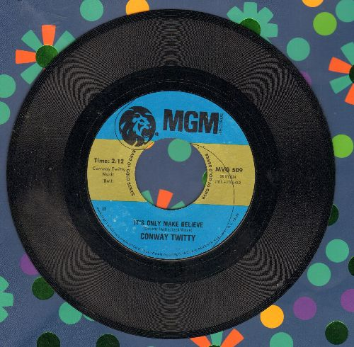 Twitty, Conway - It's Only Make Believe/Lonely Blue Boy (double-hit re-issue) - EX8/ - 45 rpm Records