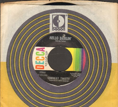 Twitty, Conway - Hello Darlin'/Girl At The Bar (with Decca company sleeve) (bb) - VG7/ - 45 rpm Records