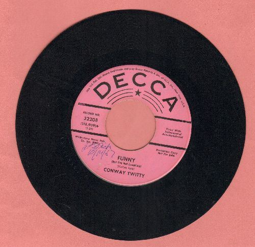 Twitty, Conway - Funny (But I'm Not Laughing)/Working Girl (DJ advance pressing) - EX8/ - 45 rpm Records