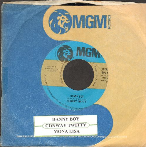 Twitty, Conway - Mona Lisa/Danny Boy (double-hit re-issue with juke box label and MGM company sleeve) - NM9/ - 45 rpm Records