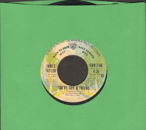 Taylor, James - You've Got A Friend/Steamroller (double-hit re-issue) - VG7/ - 45 rpm Records