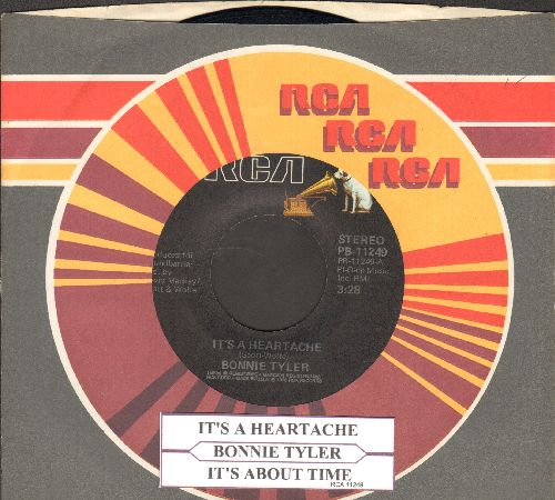 Tyler, Bonnie - It's A Heartache/It's About Time (with RCA company sleeve and juke box label) - EX8/ - 45 rpm Records