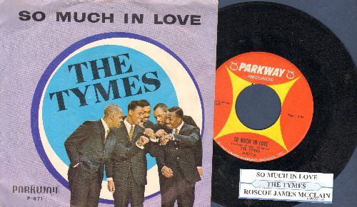 Tymes - So Much In Love/Roscoe James McClain (with juke box label and picture sleeve) - VG7/EX8 - LP Records