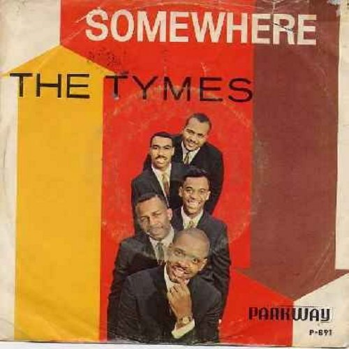 Tymes - Somewhere/View From My Window (with picture sleeve) - NM9/VG7 - 45 rpm Records