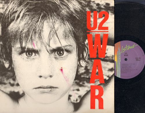 U2 - War: Sunday Bloody Sunday, New Year's Day, The Refugee, Red Light, Surrender, 40 (vinyl STEREO LP record) - EX8/EX8 - LP Records