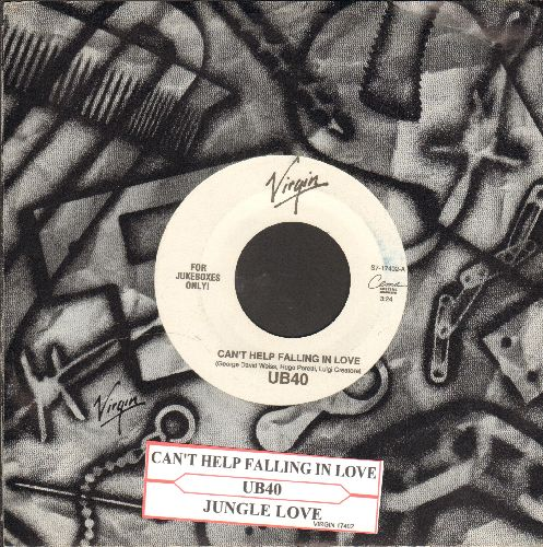 UB40 - Can't Help Falling In Love/Jungle Love (with juke box label and Virgin company sleeve) - NM9/ - 45 rpm Records