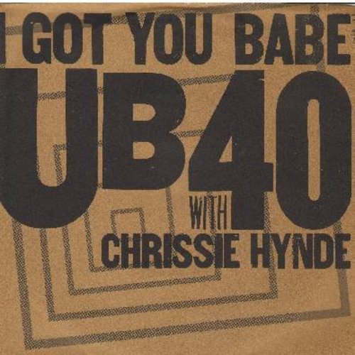 UB40 - I Got You Babe/Komo A Go Go (with picture sleeve) - M10/NM9 - 45 rpm Records