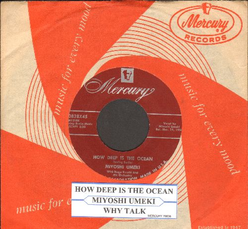 Umeki, Miyoshi - How Deep Is The Ocean/Why Talk (burgundy label with RARE vintage Mercury company sleeve and juke box label) - NM9/ - 45 rpm Records
