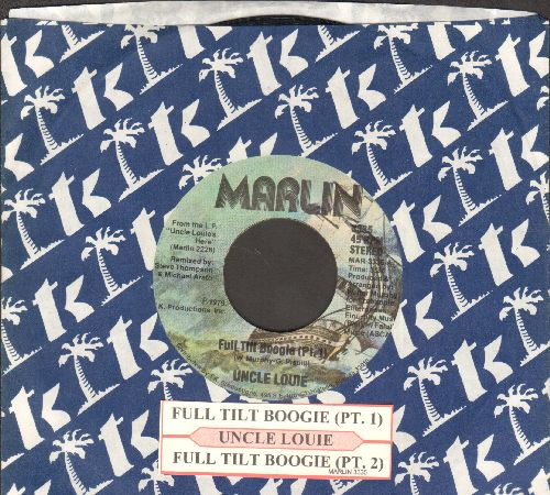 Uncle Louie - Full Tilt Boogie (Parts 1 + 2) (with juke box label and company sleeve) - EX8/ - 45 rpm Records