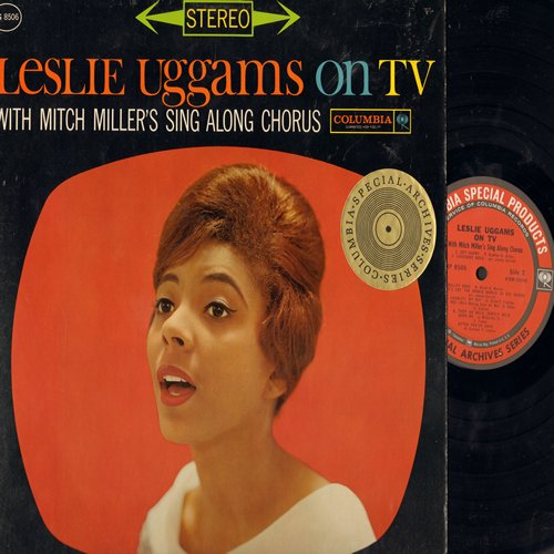 Uggams, Leslie - Leslie Uggams On TV - With Mitch Miller's Sing Along Chorus: Over The Rainbow, Birth Of The Blues, Get Happy, Trolley Song, Lonesome Road (Vinyl STEREO LP record, NICE condition!) - NM9/NM9 - LP Records