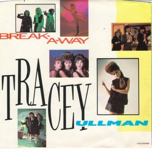 Ullman, Tracey - Break-A-Way (double-A-sided DJ advance pressing with picture sleeve, with song lyrics on back of picture sleeve) - M10/NM9 - 45 rpm Records
