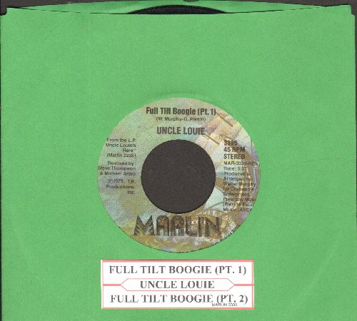 Uncle Louie - Full Tilt Boogie (Parts 1 + 2) (with juke box label) - VG6/ - 45 rpm Records